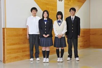 北海高等学校の女子の制服1