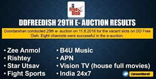 2 New channels won slots in 29th E-Auction 1