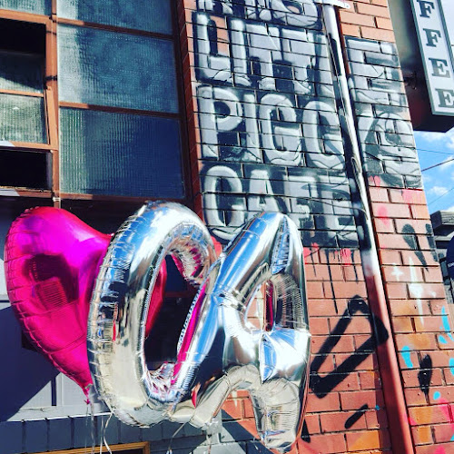 Helium balloons - silver A and C, pink heart.