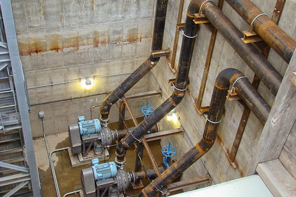 Systems Contracting Transfer Pit Water Piping installation