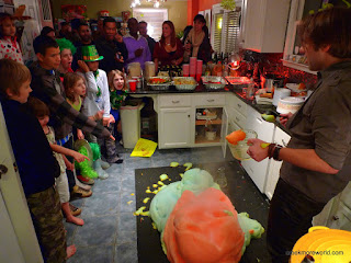 Elephant Toothpaste at the St. Pat vs. St. Nick party!