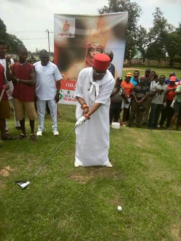 Photos Of Oba Of Benin,Ewuare 11,Playing Golf At Benin Golf Club