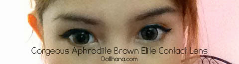 Elite Contact Lens Goddess Aphrodite Brown