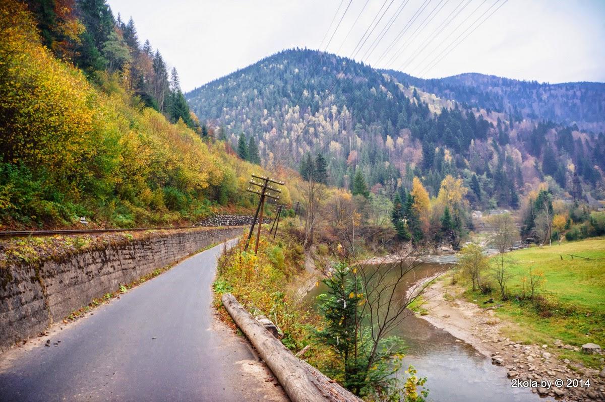 Железная дорога в Карпатах