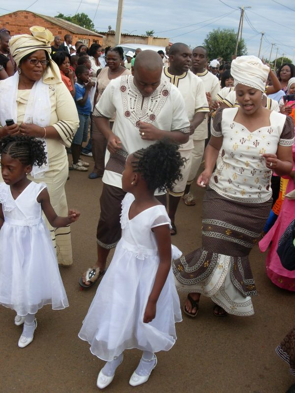 Shweshwe Dresses For Wedding _South African Traditional