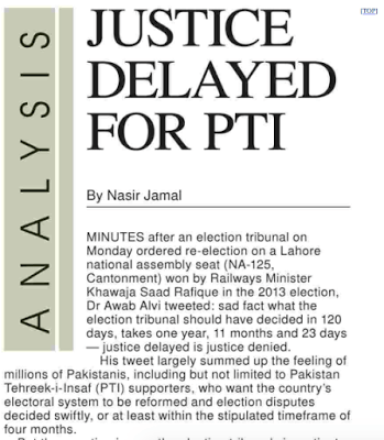 Justice delayed for PTI