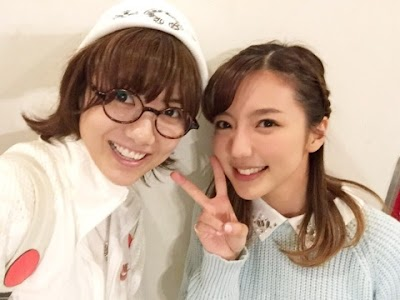SKE48・SNH48の宮澤佐江と真野恵里菜(まのりえ)
