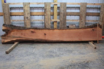 "Cherry 299-1  Length 13' 6"", Max Width (inches) 24 Min Width (inches) 14 Thickness 10/4  Notes : Kiln Dried"