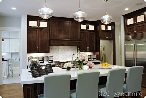 kitchen paint color - dark cabinets