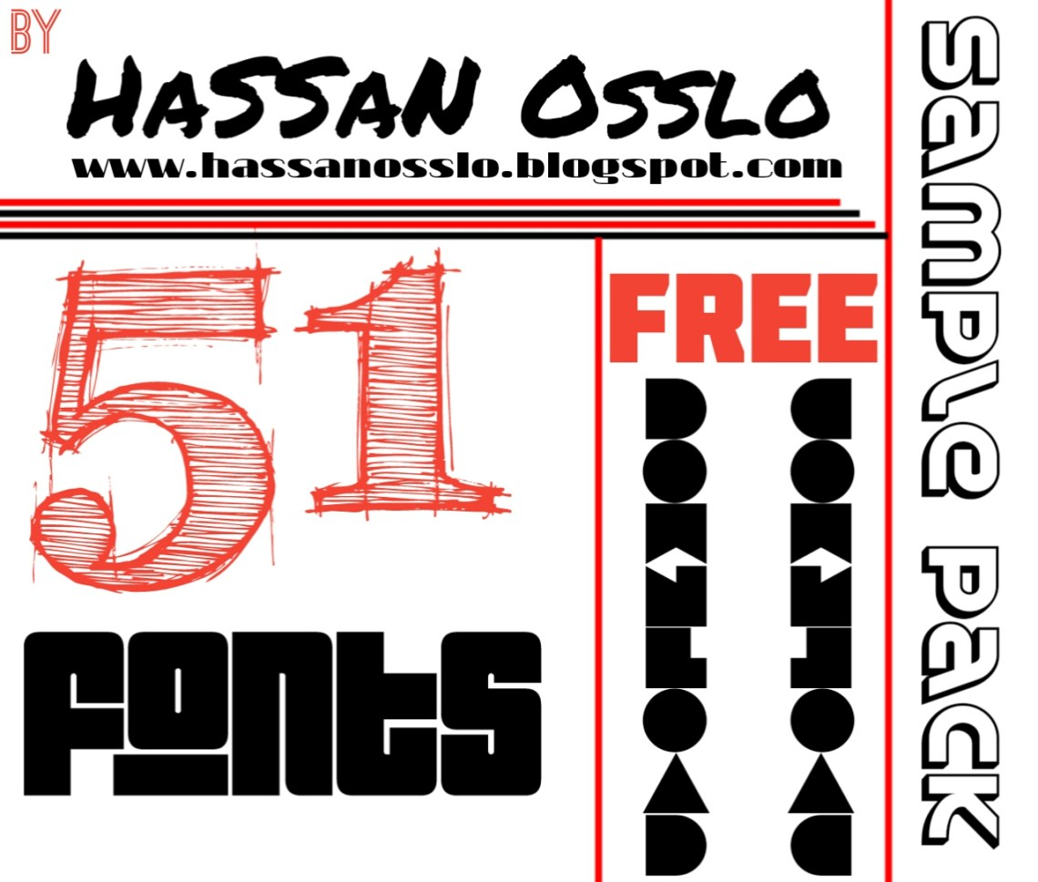 Download Best 51 fonts ttf in one pack - HaSSaN Osslo
