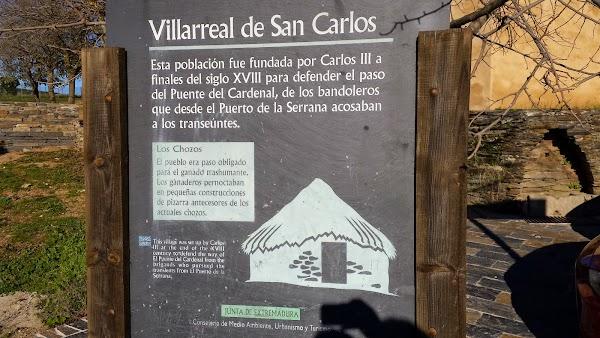 Cartel de Villareal de San Carlos