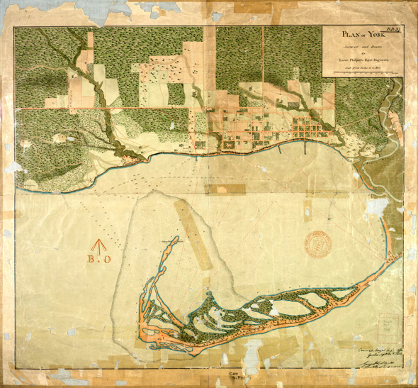 1818 Plan of York Surveyed and Drawn by Lieutenant Phillpotts Royal Engineers, Library and Archives Canada