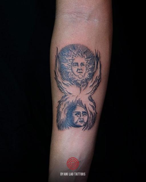 Sun and Moon - Dyani Lao Tattoos and Art