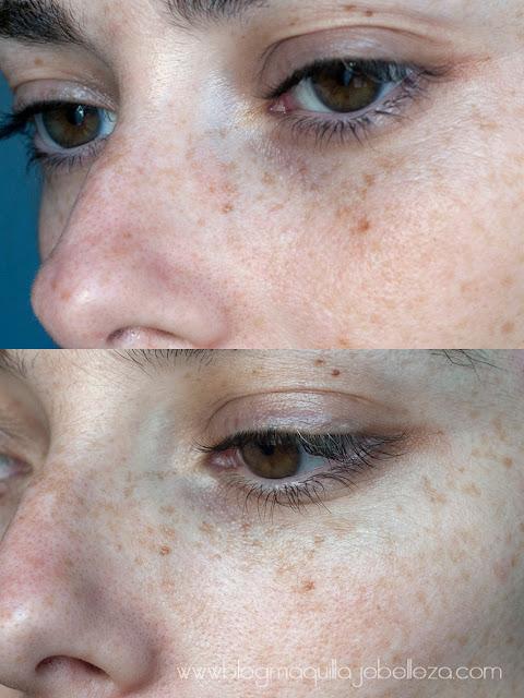Antes y después.Resultados tras una semana con Glow Revival.