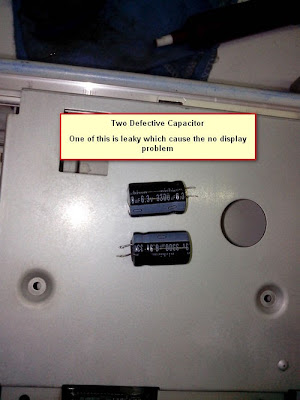 Defective electrolytic capacitor