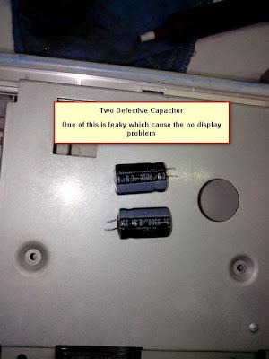Defective electrolytic capacitor