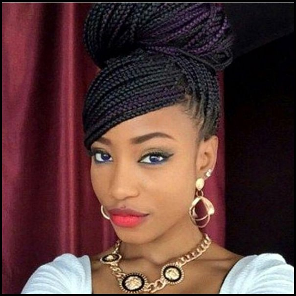 +10 Pretty African American Braided Hairstyles 2018 4