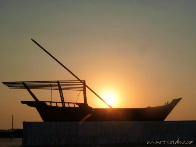 Abu Dhabi Corniche Sunset