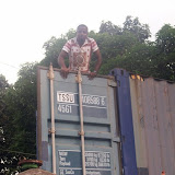 Container Arrival & Offloading in Buea - 100_9059.JPG