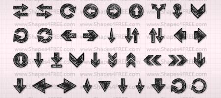 [Shapes整理]箭頭自訂形狀集1