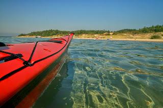 kayak at beach