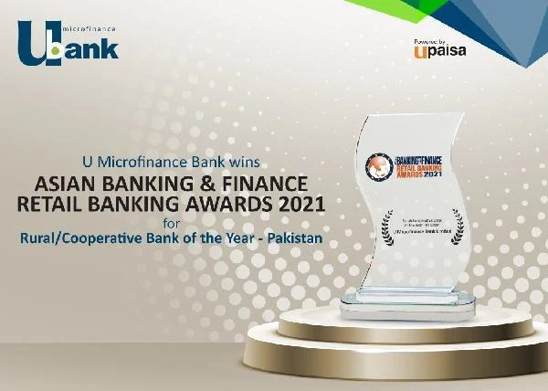U Microfinance Bank wins Asian Banking & Finance (ABF) Retail Banking Awards 2021