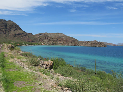 One of the many beautiful bays on the way to Loreto