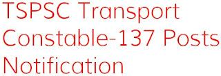TSPSC Transport Constable Notification