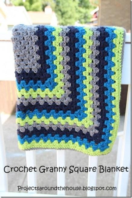 Crochet Granny Square Blanket