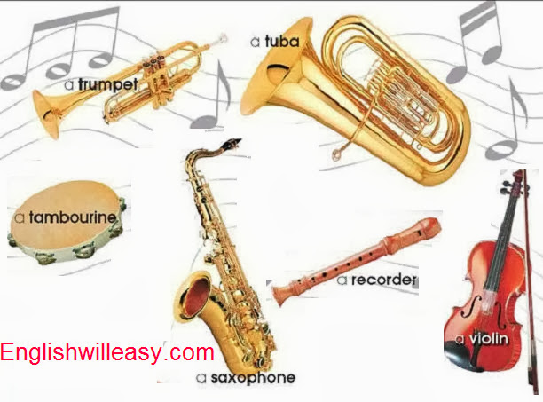 Musical Instruments Names with Names and Pictures - Online ...