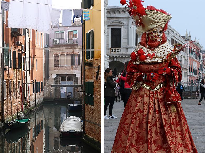 Costume de femme au Carnaval de Venise.
