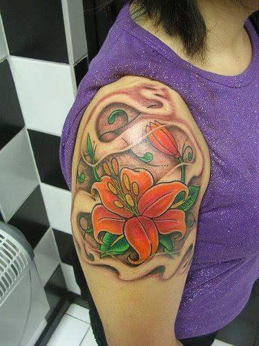 flower tattoos for girls arm