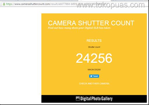 hasil shuttercount dslr camera