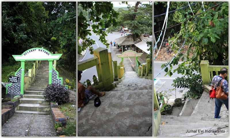jalan-jalan ke petilasan nyi roro kidul - Tangga ke Makam Nyi Roro Kidul