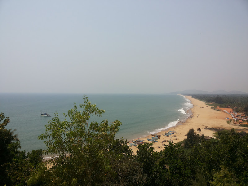 Gokarna Beach from the cafe, Zostel Gokarna