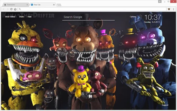 FNaF   Five Nights at Freddy s HD Wallpapers New Tab   Free Addons FNaF   Five Nights at Freddy s HD Wallpapers New Tab Theme