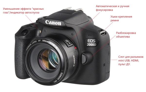 Обзор фотоаппарата Canon EOS 2000D Kit — My Gadget