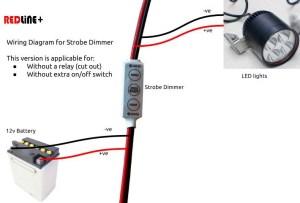12V Mini LED Light Control Strobe & Dimmer