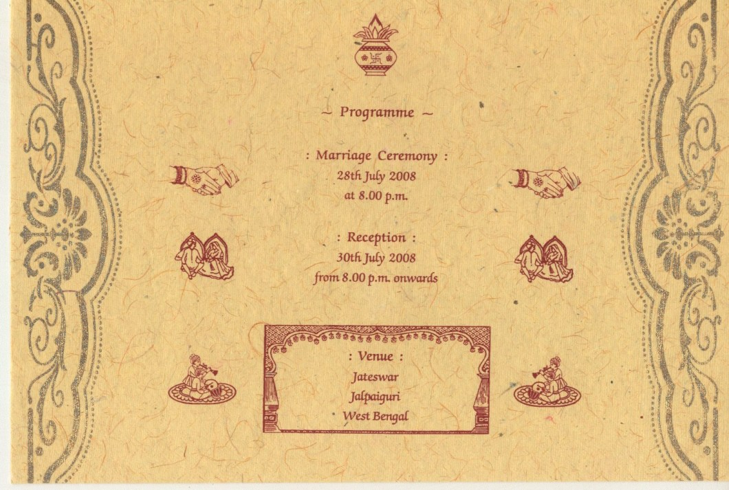 Bengali Wedding Invitation Card Sample | Invitationjdi.co