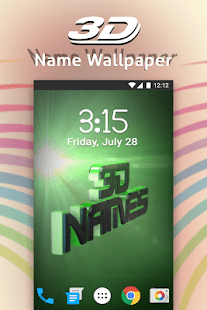 3D My Name Live Wallpaper   Apps on Google Play Screenshot Image