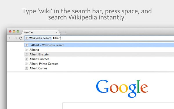 Wikipedia Search Chrome Web Store