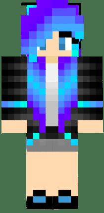Blue Ender Girl Nova Skin
