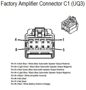 CarFusebox: Chevrolet 2008 HHR amplifer connector C1 wiring