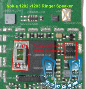 Nokia 1202 1203 Ringer Speaker Porblem Solved without I ~ Cellphone Hardware Picture Help