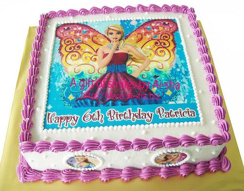 Birthday Cake Edible Image Barbie Kek Harijadi Patricia