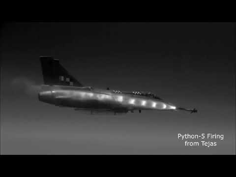 Watch Successful Test Firing of Python-5 Air-To-Air Missile From TEJAS Fighter Jet