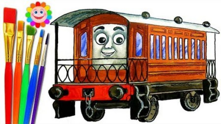How To Draw Train Thomas And Friends Trains Video For Kids Coloring     Image For How To Draw Train Thomas And Friends Trains Video For Kids Coloring  Pages Adam