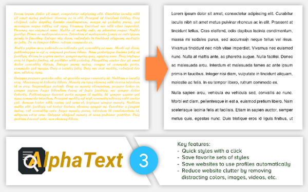 AlphaText - Make text readable! - Chrome Web Store