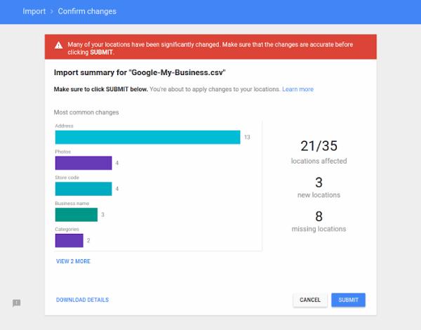 Import your bulk upload spreadsheet - Google My Business Help