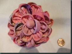 Camellia brooch - 4 inch size